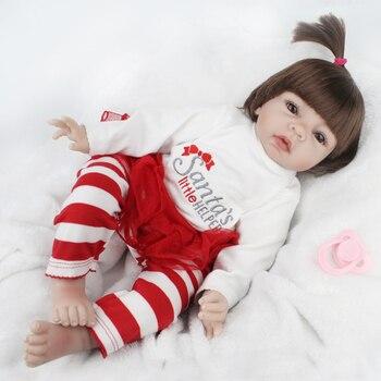Npkdoll 22 pulgadas 55 cm reborn baby suave silicona muñeca renacida juego Para Los Niños Regalo de Cumpleaños 2017 Life Like Baby Reborn juguete