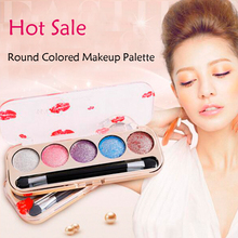Wholesale Diamond Eye Shadow Color Eye Shadow Bare Makeup Pearl Circular Colored Makeup Palette Free Shipping