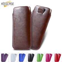 KISSCASE 5.5 inch Universal Phone Accessories Case For Samsung Galaxy S7 S6 Edge S5 S4 S3 S2 Luxury Leather Pouch For Galaxy J5