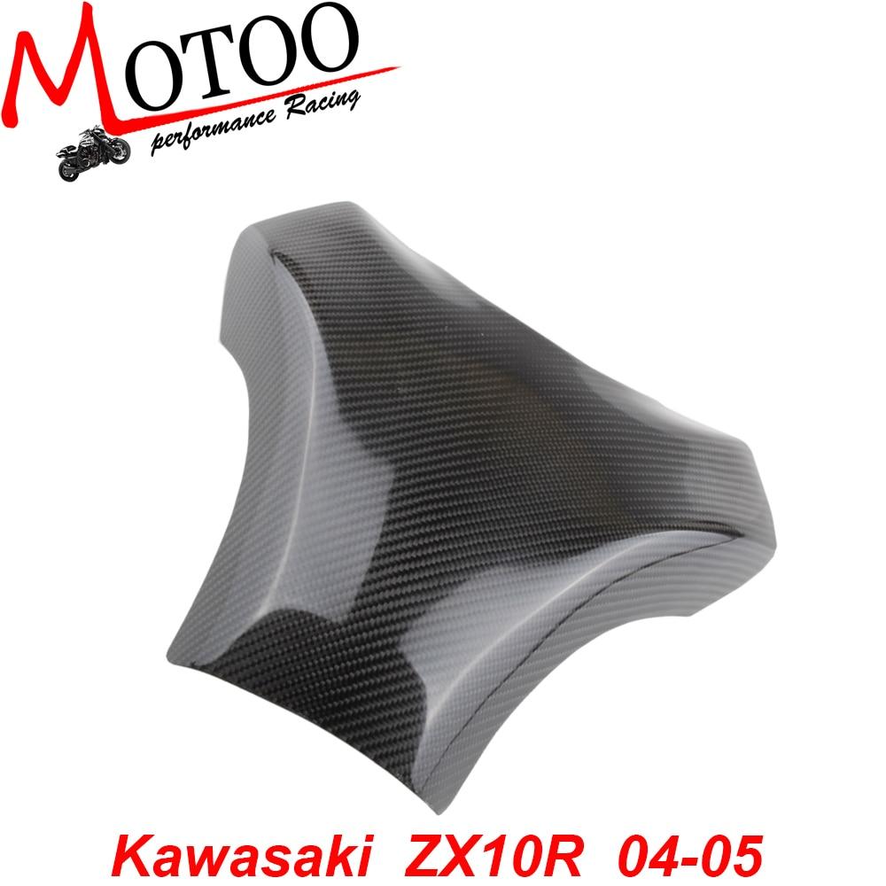 Motoo - Carbon Fiber Fuel Gas Tank Cover Protector For Kawasaki ZX-10R 2004-2005<br><br>Aliexpress