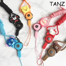 Cute cartoon Multi-function Mobile Phone Straps Rope for Samsung Galaxy S8 S7 edge Plus iphone 7 Plus Lanyard Neck Strap Phone D(China)