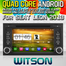 WITSON S160 CAR DVD for SEAT LEON 2013 CAR STEREO NAVIGATION Quad Core Android 4.4 capacitive Screen+16G Flash+PIP+DVR/WIFI/3G