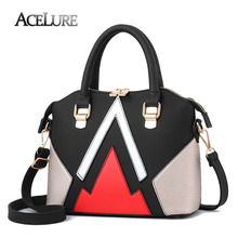 ACELURE Women Patchwork Top-Handle Bags New Wave Leather Female Tote Bag Large Capacity Ladies Shoulder Messenger Bag Sac A Main