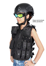 Tactical Military Black Encryption 600D Oxford Cloth Vest For Paintball Accessory Child   CL4-0030