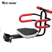 WEST BIKING Bicycle Kids Front Seat Bike Carrier With Handrail Mount Seat Steering Wheel Safe Protect Child's Bike Chairs Seat