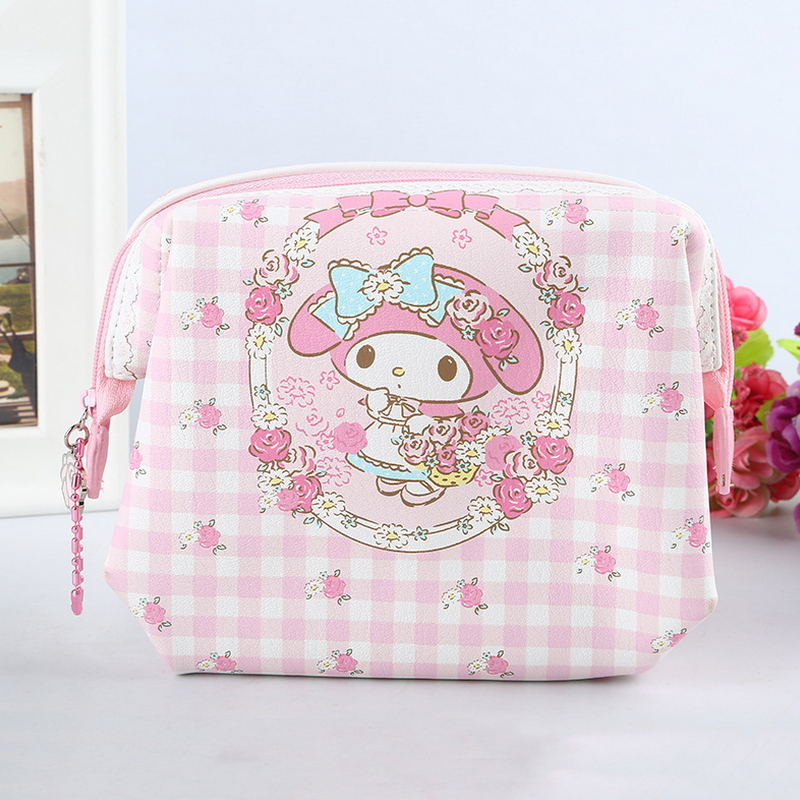 bc6e3b54642 Free shipping Genuine my melody make up bag High quality PU cosmetic bags  cases travel bags