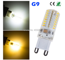 Wholesale - G9 3W 3014 SMD 64 LED Crystal Lamp 220V Corn Bulb Droplight Chandelier COB Spotlight Cool/Warm White 360 degree
