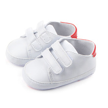 TongYouYuan PU Leather Pure White Baby Boys Girls Shoes Newborn Kids First Walkers Soft Soled Sports Classic Casual Sneakers(China)