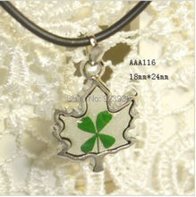 Free Shipping $46  50pcs GREEN FOUR LEAF CLOVER MAGIC MAPLE LEAF DESIGN Patrick's day cute PENDANT