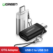 Хаба USB 3,1 Ugreen Тип C USB 3,0 адаптер Тип usb-C OTG адаптер для Chromebook Macbook huawei P9 Xiaomi 4C Nexus 5x 6p LG G5(China)