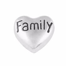 Buy Free floating charms,Family heart charms glass locket 30mm ) for $1.07 in AliExpress store