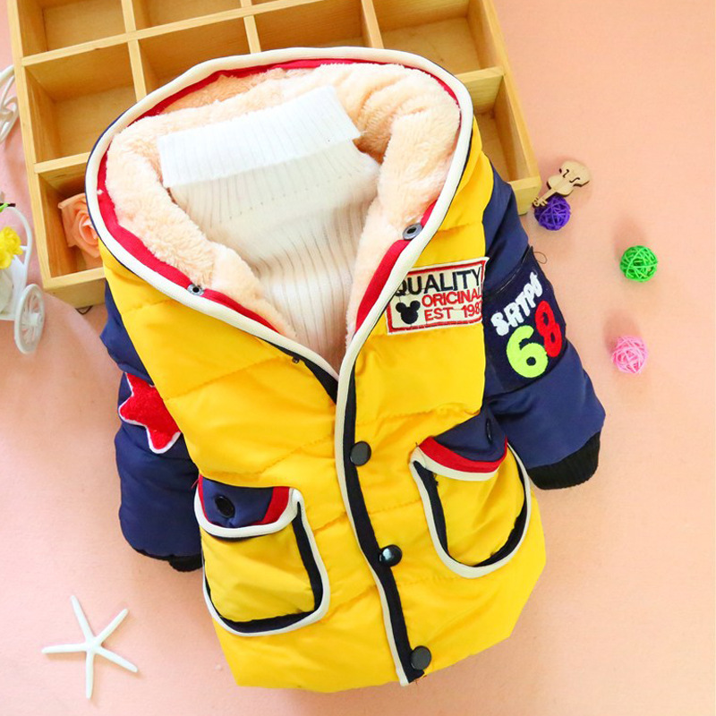 2017 The New Child Character Cotton-padded Jacket Boy Childrens Digital Cotton-padded Clothes Children Wear Winter CoatОдежда и ак�е��уары<br><br><br>Aliexpress