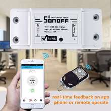 sonoff dc220v Remote Control Wifi Switch Smart Home automation/ Intelligent Center for APP Controls