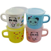 Safety PP Plastic 150ml Colourful Cute Cartoon Animal Bear Panda Cat Baby Kids Feeding Milk Water Tea Cup