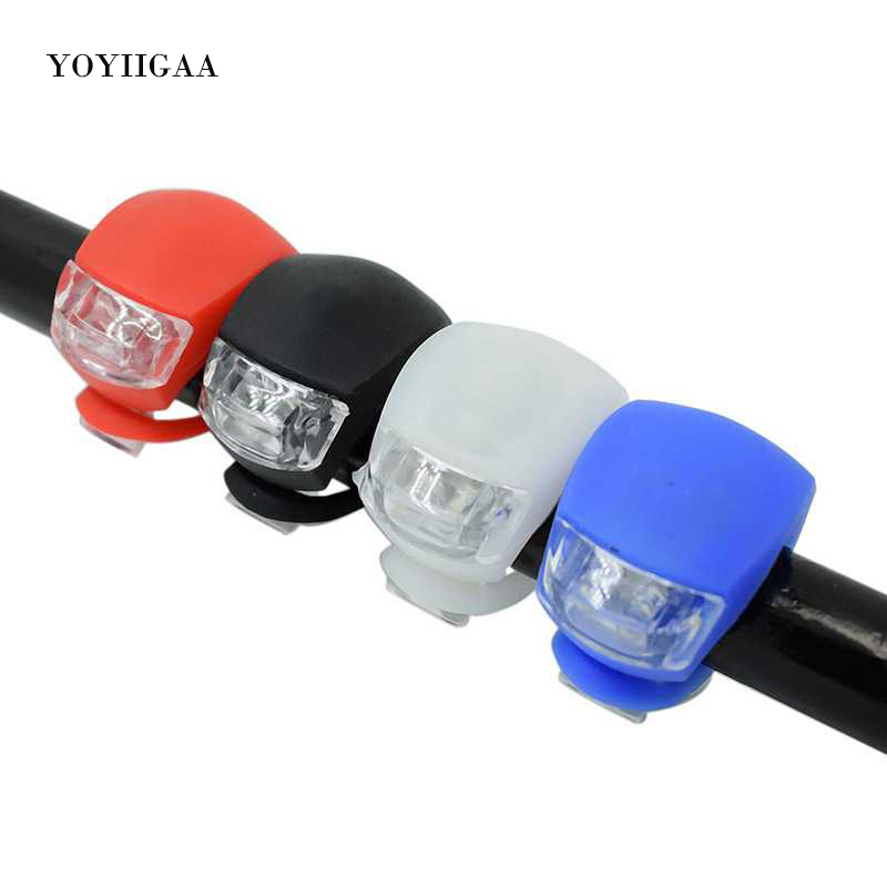 7 LED Bicycle Bike Silicone Light Front /& Rear Tail Light  Firm Safety Lamp Clip