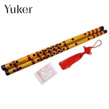 47cm Long Bamboo Flute Soprano F Key Chinese Handmade Dizi Music Instrument in D Key Chic Traditional