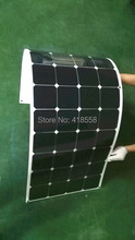 Semi Flexible Solar Panel 120W Free Shipping Light Weight  21% charging efficiency 25 years warranty
