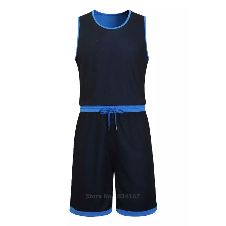17 Men Reversible Basketball Set Uniforms kits Sports clothes Double-side basketball jerseys DIY Customized Training suits 10