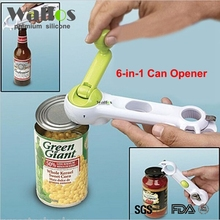 WALFOS 6 Ways Universal Can Opener For Opening Jar Can Bottle Wine Kitchen Multi Purpose All Size in One Tool 1 Piece(China)