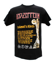 Gildan Led Zepplin Rock Band Stairway To Heaven Embroidered Graphic T-Shirts