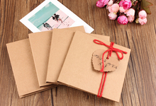 10pcs/Lot Kraft paper CD bag Two tablets wedding photo CD covers brown paper envelope bag brown paper bag Can be customized(China)