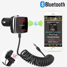 Car Wireless Bluetooth FM Transmitter Modulator A2DP Audio Stereo 3.5MM AUX Kit Player LCD Display Audio Stereo Player For Phone(China)