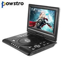 Powstro 7.8 Inch Portable DVD Player Digital Multimedia Player U Drive Play with FM TV Game Card Read Function VCD DVCD MP4 MP5