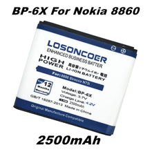 LOSONCOER 2500mAh BP-6X Li-ion Phone Battery for Nokia 8800 / 8800 Sirocco battery N73i 8860 battery