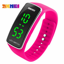 Skmei Simple LED Wristwatch Bracelet Outdoor Sports Durable LED Display Stopwatch Multifunctional Unisex Hand Clock Watch