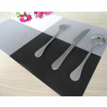 Durable Black White Mix Color Insulation PVC Coffee Coaster Mat Placemats Plaid Pad Dining Table Desk(China)