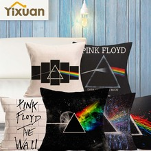 Pink Floyd Printing Linen Cushion Cover Yixuan New Arrival Home&Living Decorative Sofa Car Couch Throw Pillowcases 45cmx45cm