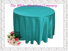 10pcs  70'' Round Satin Turquoise Wedding Decoration Tablecloths for Weddings Table Cloth Wedding Table Linens