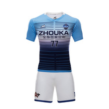 Custom best thai quality soccer jerseys polyester quick dry soccer uniforms sets sublimation men thailand football shirts(China)