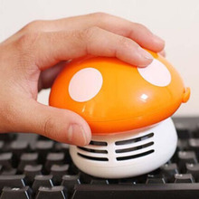 Hot sale 2017 New Vacuum Cleaner Sweeper Unique small vacuum hand held sweeper Ritzy Cute Mini Mushroom Corner Desk Table Dust(China)