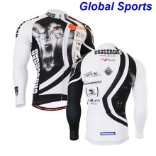 2017 tiger head cycling long sleeve jersey best 3d tiger head printed functional cycling sports jackets for mountain biking