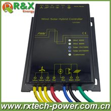 LED display Wind solar hybrid charge controller for 600w max wind generator and 12V/150W, 24V/300W solar panel(China)