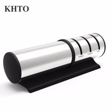 KHTO 3-Grade Stainless Steel Face Diamond Add Fine Ceramic Kitchen Ceramic/metal Knife Sharpener System(China)