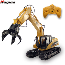 RC Truck Timber Grab Loader Crawler Material Handler Alloy Gripper Engineer Excavator 2.4G Vehicle Remote Control Tractor Toy(China)