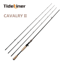 Tideliner 2.1m 2.4m spinning casting baitcasting fishing rod three actions ML/MH/M Top quality 3 tips carbon fiber fishing rod(China)