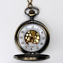 Vintage Gold Roman Numerals Quartz Fob Pocket Watch Jewelry Chain Pendant Necklace Gift LXH