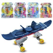 fingerboard Plastic Basic Complete fingerboards Children Toy finger skateboard alloy Stent Bearing Wheel novelty fingerboard(China)