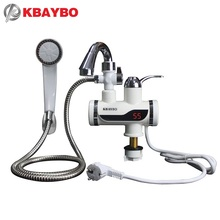 3000W Temperature Display Instant Hot Water Tap Tankless Electric Faucet Kitchen Instant Hot Faucet Water Heater Water Heating