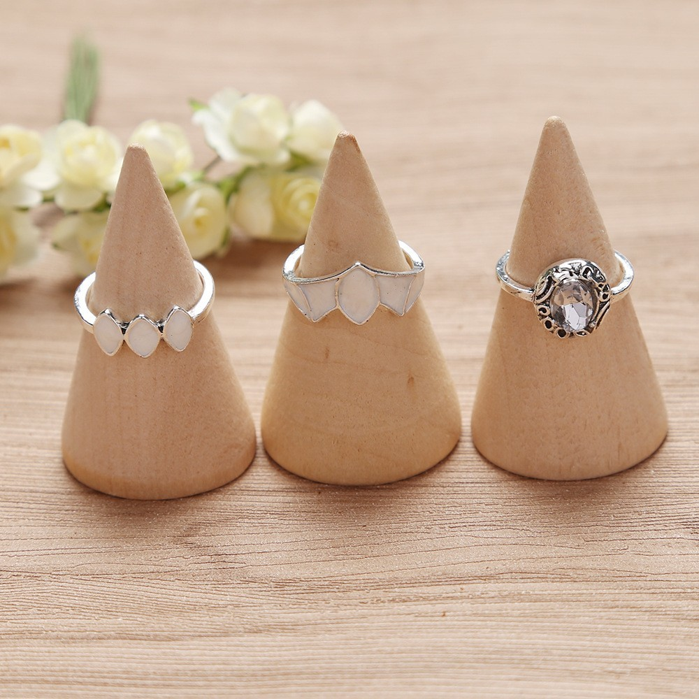 Bague Femme Vintage Rings for Women Boho Geometric Flower Crystal Knuckle Ring Set Bohemian Midi Finger Jewelry Silver Color 66