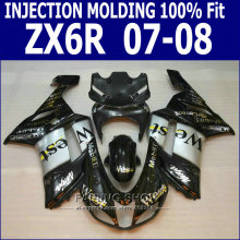 100%Fit For Kawasaki Ninja Fairing kit zx6r 2007 2008 07 08 Injection Fairings WEST DECAL  free S04