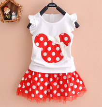 girl minnie clothing polka dot tutu skirt 2pcs newborn baby girls skirt sleeveless summer dress little girls skirt outfit set