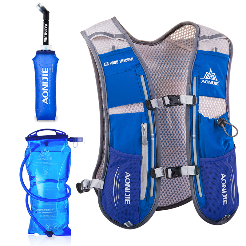 AONIJIE Men Women Running Backpack Outdoor Sports Trail Racing Hiking Marathon Fitness Hydration Vest Pack 1.5L Bag 500ml Kettle<br>