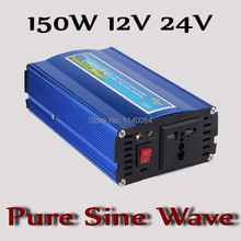 Fast Shipping!! 150W Inverter 12V 24V DC to AC 110V or 220V with 300W Surge Power, 150W Pure Sine Wave Power Inverter(China)