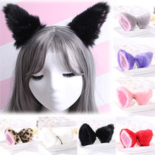 Sale Women Girls Fashion Fox Plush cat ears Headclips lovely hair Accessories Gift