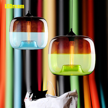 LEDream creative personality electroplating apple glass lamps of restaurant Contemporary retro industrial bar LED lamps(China)