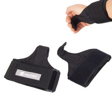 One Pair Adjustable Fitness Wrist Support Weight Lifting Hooks Training Gym Grips Straps Support Black Gloves hooks